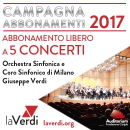ABBONAMENTO LIBERO 5 CONCERTI 2017