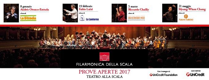 FILARMONICA DELLA SCALA PROVE APERTE 2017