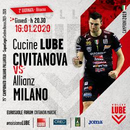 EUROSUOLE-FORUM : CUCINE LUBE CIVITANOVA - ALLIANZ MILANO